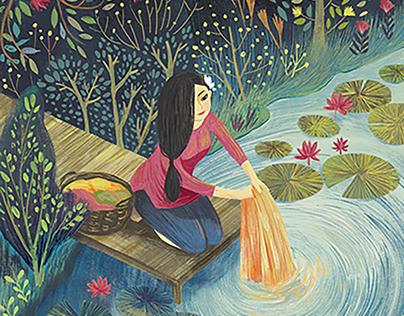 Vietnamese Poem Illustration