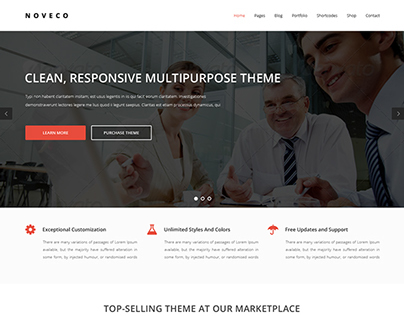 Noveco Multipurpose Wordpress Premium Theme [Style 1]