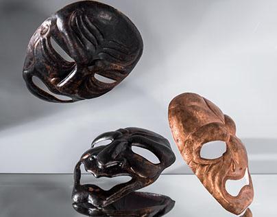 Masques - Aka, Ao et Kuro