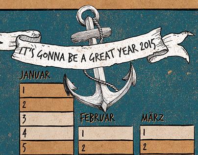 Seaside Calendar 2015