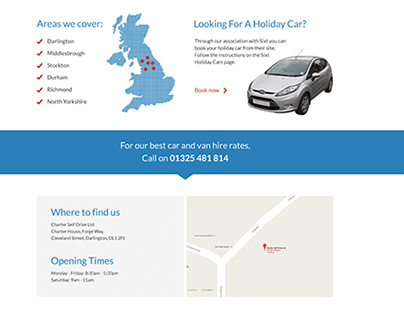 Car Hire Web design