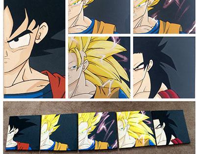 [Acrylic Painting] Levels of Saiyan Goku