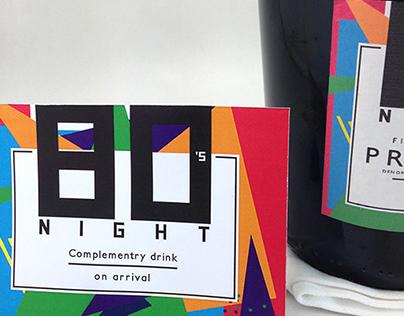 80's NIGHT (Design production)