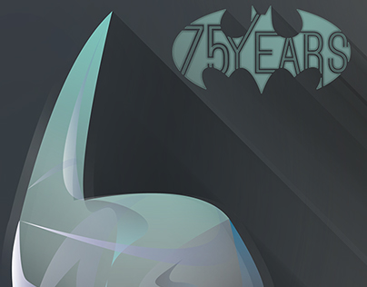 Batman - 75 years anniversary - vector tribute