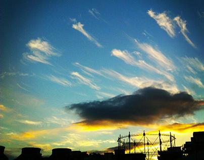 La bellezza del cielo irregolare