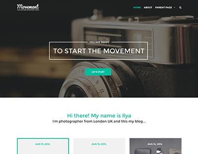 Movement - Personal Blog WordPress Theme