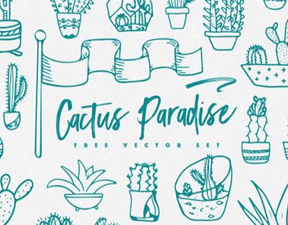 CACTUS PARADISE - FREE VECTOR SET