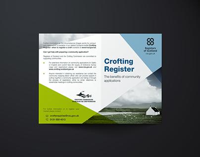 Registers of Scotland Series. Vol 1. Crofting.