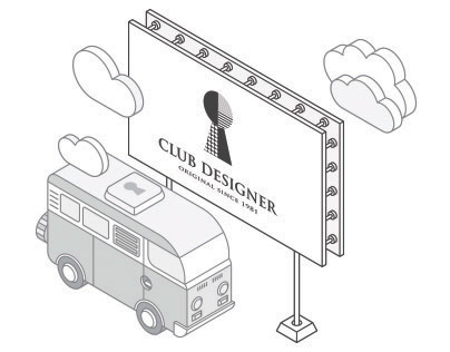 Club Designer | Website Illustration