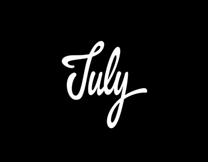Name of Months in Various Lettering Style