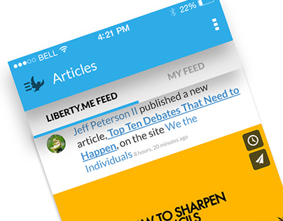 Liberty.me - UI UX Web Design
