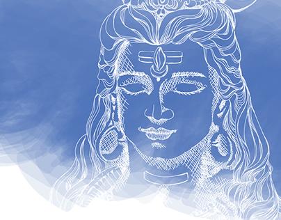 Shiva - Om Namah Shivaya Vector Illustration