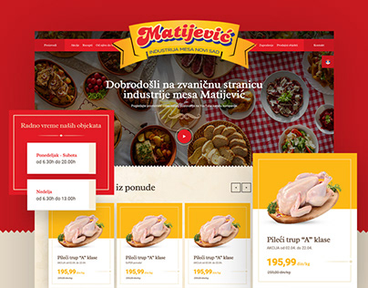 Meat Industry Matijević - Website Design