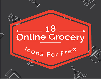 Online Grocery Icons Freebie