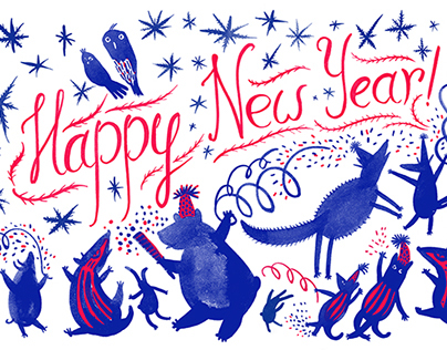 Happy New Year / Greeting card