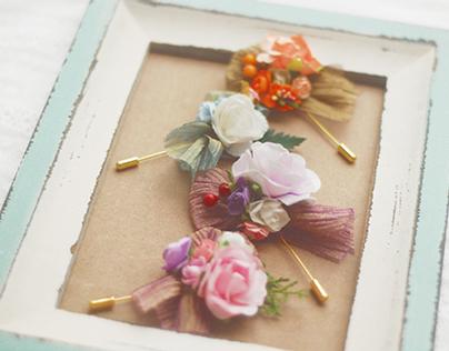 Fiona-paper flower brooch