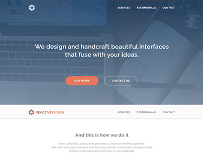 ReactiveFusion App Devolopment Website