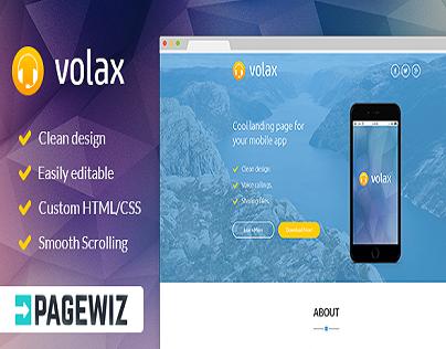 Volax - Pagewiz Mobile App Landing Page