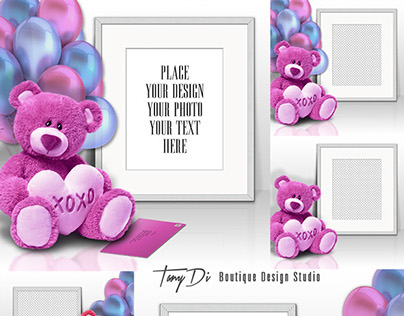 Styled Stock Photography - Romantic Teddy Bear