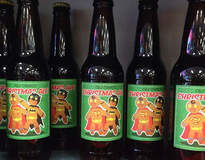 Christmas Ale Beer Labels.