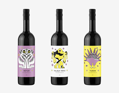 WINE LABELS / digital illustration