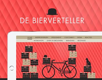 De Bierverteller, SIngle page Website.