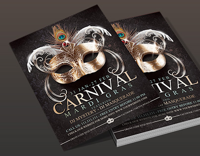 Mardi Gras - Carnival Elegant Flyer Template