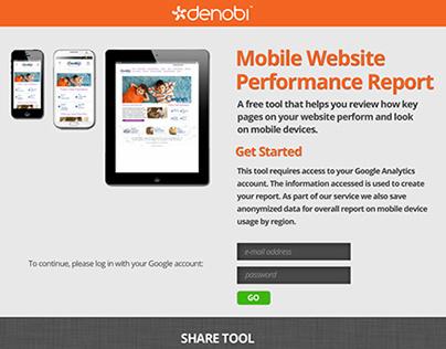 Web App Design - Mobile Performance Report