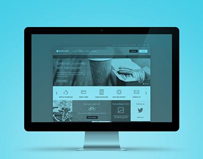 Barclays - Web design concept