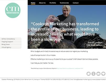Cookson Marketing Logo & Website