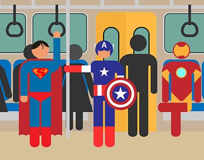Ordinary life of superheroes