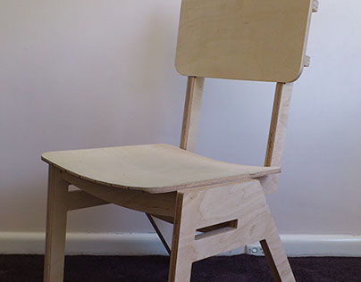 Plywood Stackable Chair Prototype