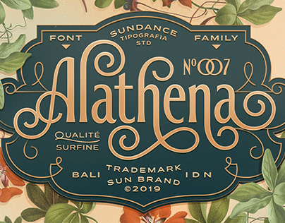 Decorative Alathena Font Display By: Studio Sun
