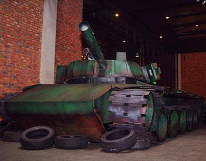 Cardboard Tank Display