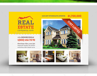 Real Estate Postcard Templates On Behance - Real estate postcard templates