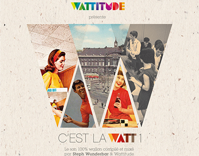c'est la watt 1 / artwork for cd sleeve