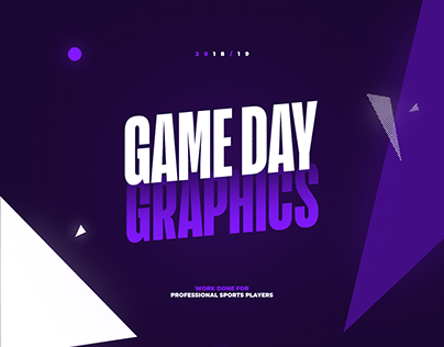 2018/19 l Official Game Day Graphics For Sports Players