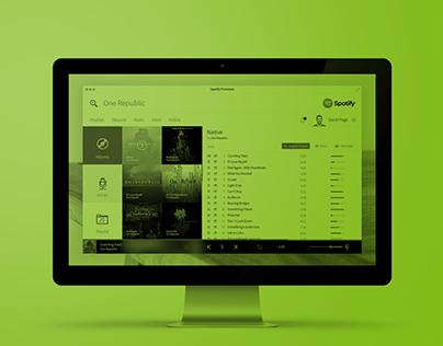 Spotify - Desktop app concept