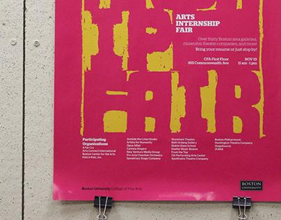 Arts internship fair   Poster