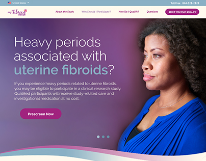 Fibroid Healthcare Study Website Design