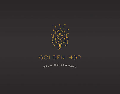 Golden Hop Brewing Company - Logo and branding