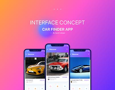 Interface Concept - Car Finder App