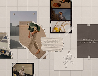 Realistic Natural Wall Mood Board Mockups PSD