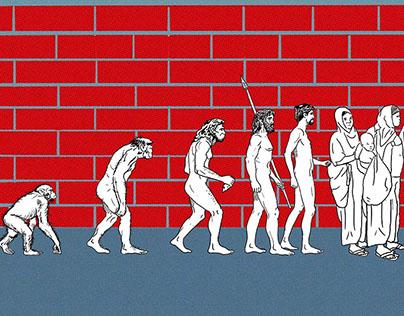 Ilustración Editorial Ninguna persona es ilegal