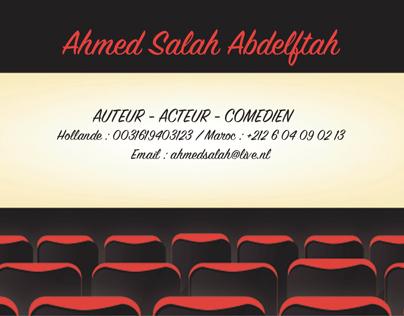Acteur Auteur Comédien carte visite