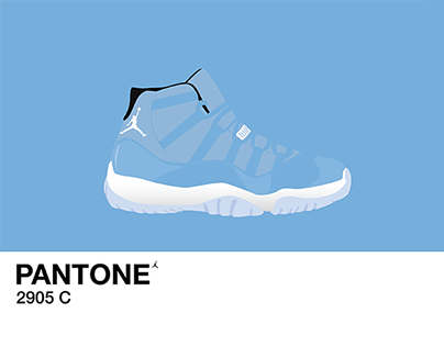 Air Jordan 11 Pantone Paint Swatch