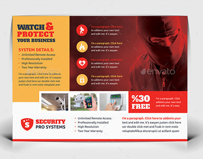 Security Systems Flyer Templates On Behance