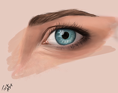 Eye colored sketch
