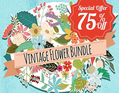 Beautiful Vintage Flower Graphics Bundle