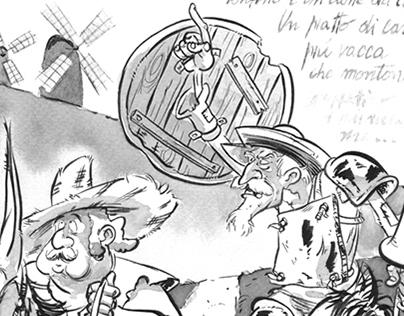 Don Quijotte y Sancho Panza